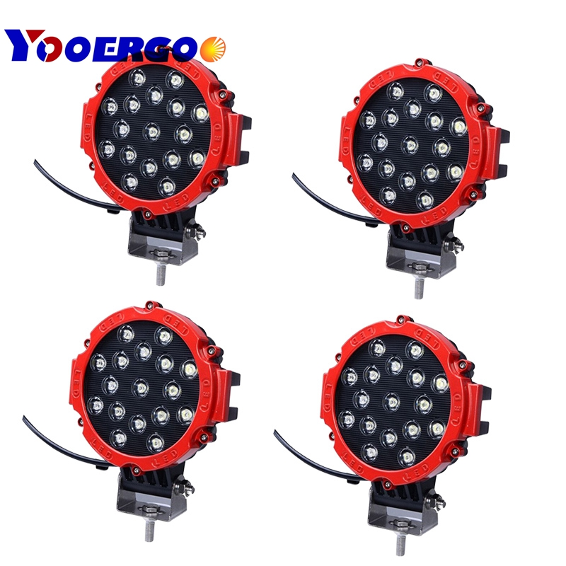 7 Inch 51W Car Round LED Work Light 12V High-Power 17 X 3W Spot For 4x4 Offroad Truck Tractor ATV SUV Jeep Driving Fog Lights new power steering pump for car jeep grand cherokee suv 2 7 crd 4x4 diesel