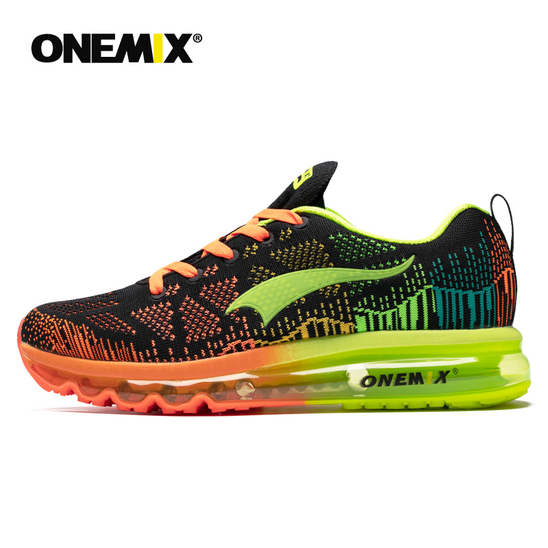 ONEMIX Men's Sport Running Shoes Summer Sneakers Breathable Mesh Outdoor Air Cushion Athletic Shoes Music Rhythm Jogging Shoes