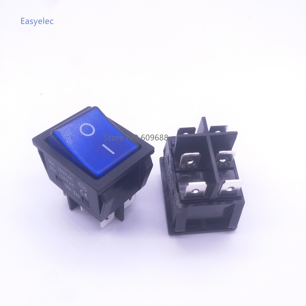 KCD4 2 2 30A 6Pin Silver Contactor rocker switch boat switch power switch