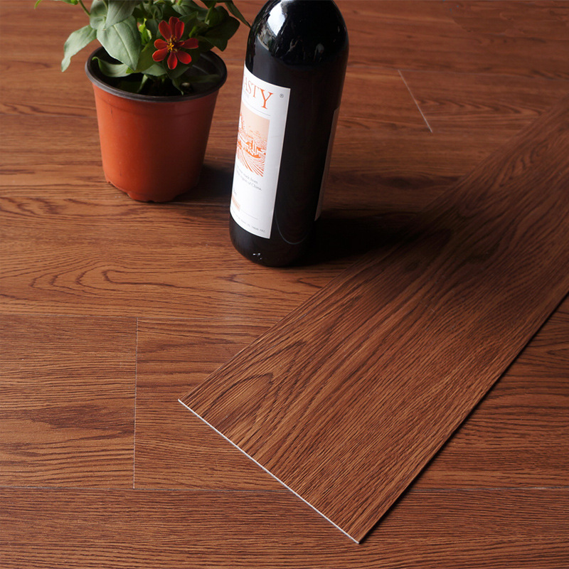 beibehang Wood grain PVC flooring Plastic floor home sheet Wear-resistant thick plastic stone plastic floor 15.24cmx91.44cm wood grain flannel skid resistant rug