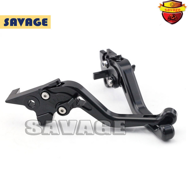 ФОТО For YAMAHA MT-03 2005-2009 Black Motorcycle Accessories CNC Aluminum Short Brake Clutch Levers