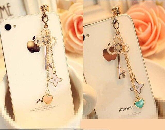 Exquisite fashion tassel pendant pearl key phone dust plug earphone jack for all of 3.5mm headphone hole of phone