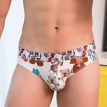 e8a2585aa6 underwear men sexy underwear men Sexy Underwear Shorts Underpants Cartoon  Prints Soft Cotton Briefs Panties(