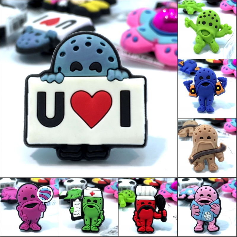 Novelty 1pcs Cartoon PVC High Imitation Shoe Charms,Shoe Buckles AccessoriesFit Bands Bracelets Croc JIBZ,Kids Party Gift/Favor