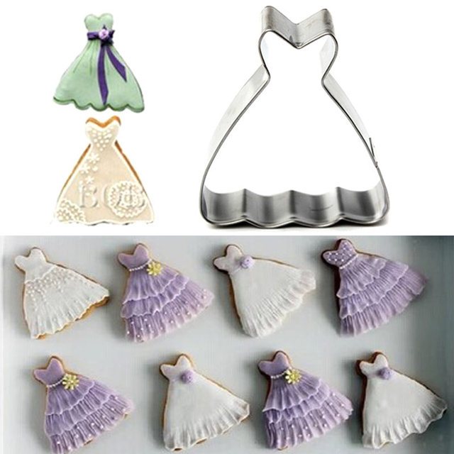 Cake Mold Wedding Dress Princess Gown Cookie Cutter Biscuit Jelly ...