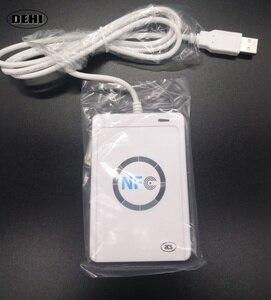 Image 2 - Nfcリーダーusb acr122u非接触型スマートカードライタrfidコピー機デュプリケーター+ 5ピースuidタグ+ 5ピースuidカード