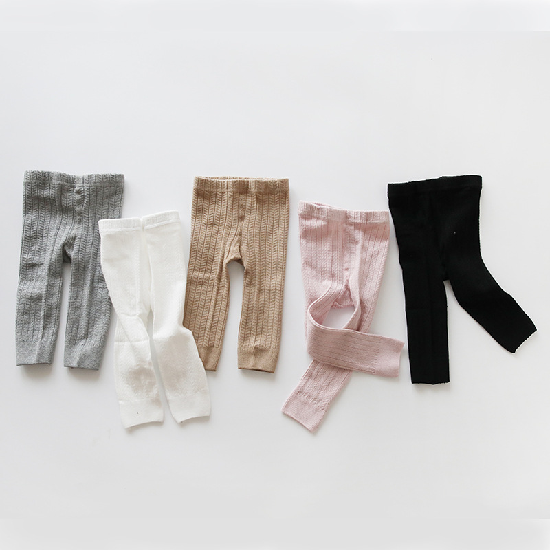 Baby Leggings Children Rib Cotton Pants Striped Skinny Boy Girl's Kids Autumn Winter High Waist pants for Toddler 0-4Y