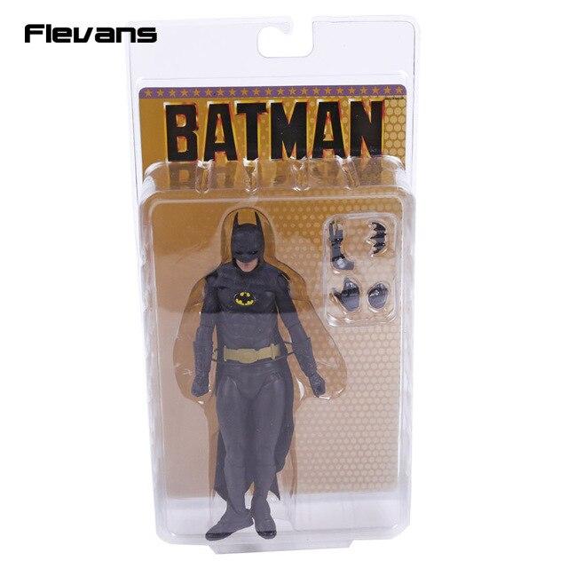 NECA 1989 Bruce Wayne Michael Keaton 25th yıldönümü PVC Action Figure koleksiyon Model oyuncak