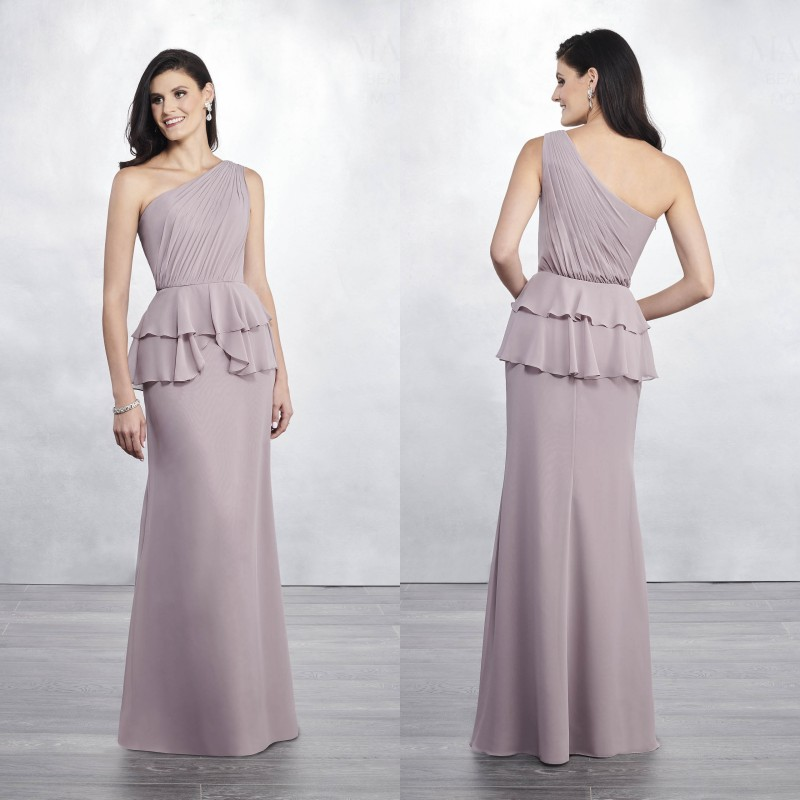 2019 Mermaid Mother Of The Bride Dresses One Shoulder Chiffon Evening Gowns Formal Wedding Guest Dresses