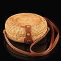 Carneyroad круглые соломенные сумки женские плетёная ротанговая сумка ручной работы Тканые Пляжные Сумки через плечо круг Богемская Сумочка Бали - фото