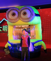 2.4m despicable me minion inflatable money booth, inflatable money grab machine, inflatable money machine for advertising games