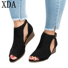 XDA Zapatos mujer woman wedge footwear sandals roman women sandals
