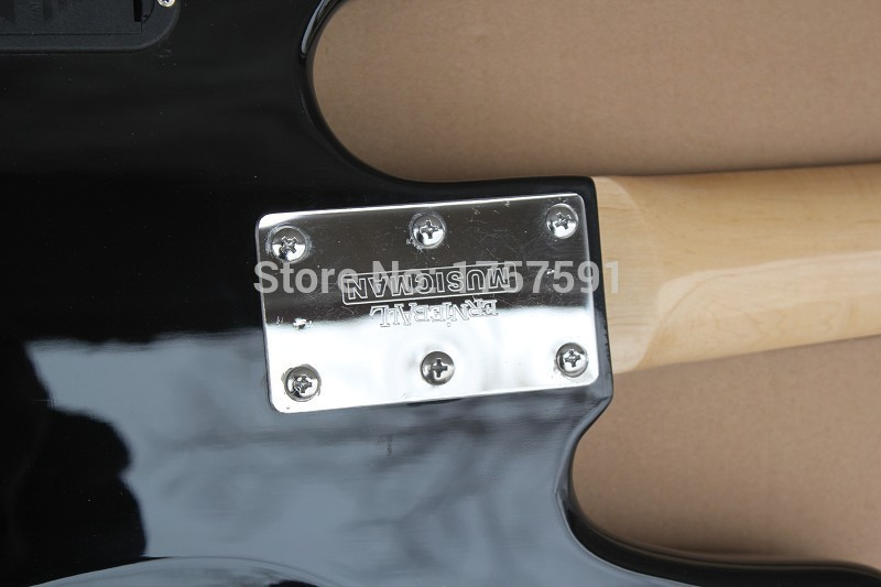 Wholesale Standard Music Man StingRay 4 string black Electric Bass guitar with 9 V Battery active pickups Free Shipping