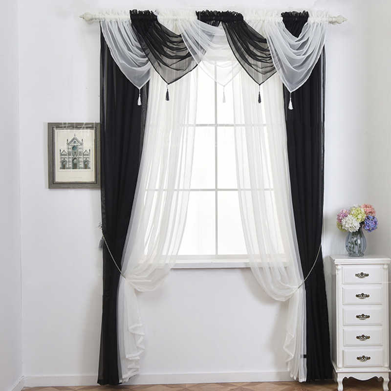 Modern Diy Valance Tulle Pelmet Curtains For Kitchen Door Window Living Room 16 Kinds Color Home Decorative Aliexpress
