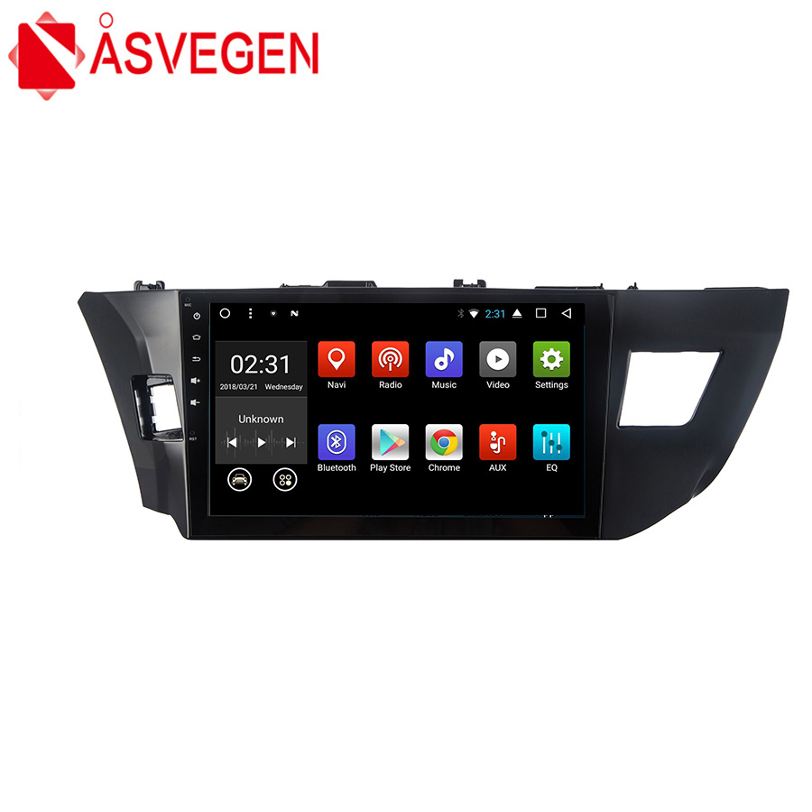 Asvegen шнур Core радио автомобиль dvd плеер ПК автомобиля головное устройство gps навигации 2 din стерео Мультимедийный Плеер для toyota Левин 2014
