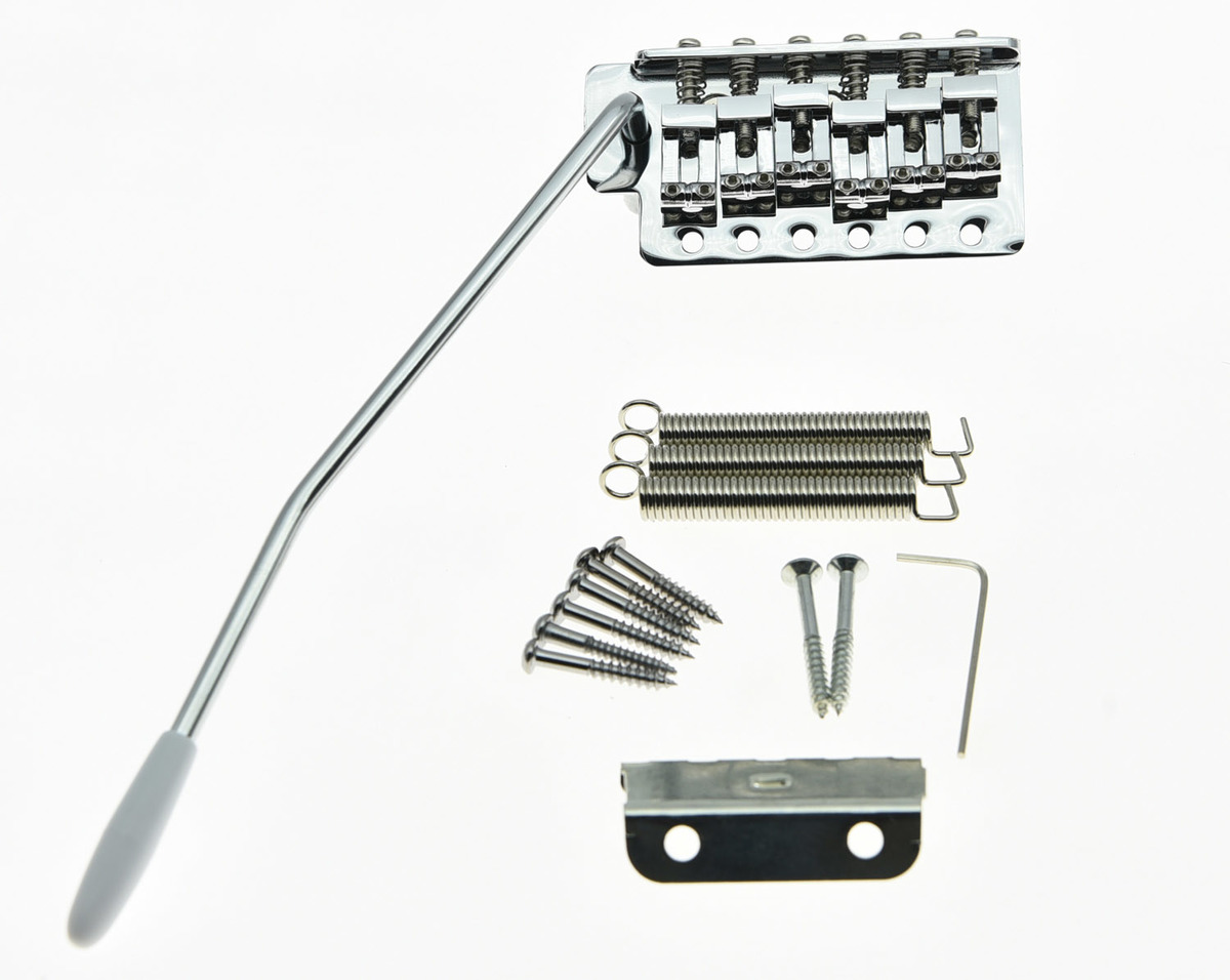 KAISH ST Strat Style Guitar Tremolo Bridge Locking System Chrome Fits Squier Affinity kaish 50mm pole spacing st guitar single coil pickup covers chrome