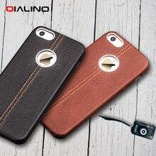 Для iphone 5s телефон case qialino верхнего слоя коровьей кожи задней крышки для iphone se 5s 5-черный