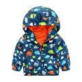 Mudkingdom Boy Bomber Jacket Trendy Animal Print Casacos Com Capuz Crianças Menino Crianças Casaco de Zíper Blusão À Prova de Vento À Prova D' Água
