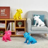 Лидер продаж! Милые C Книги по искусству Ун версия очки собаки американский поп Книги по искусству смолы ремесла Собака Фигурка Статуя best по