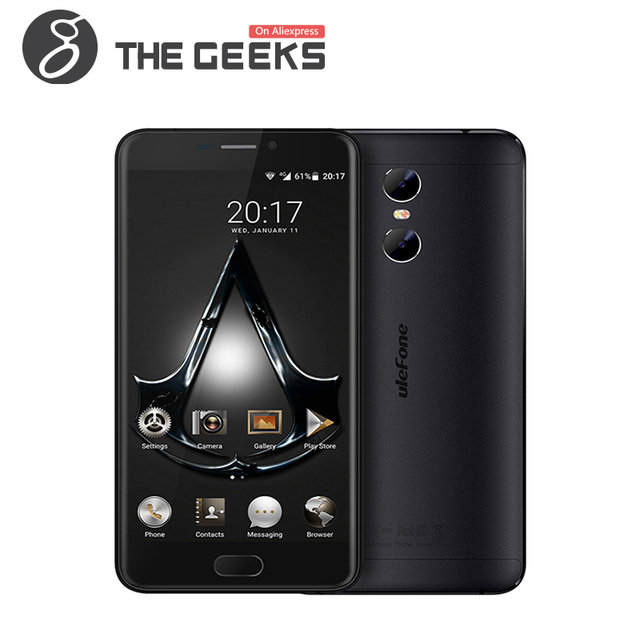 Ulefone Gemini Mobile Phone MTK6737T Quad Core 5.5 Inch FHD Screen 13 MP 3G RAM 32G ROM 3250mAh Android 6.0 4G Smartphone