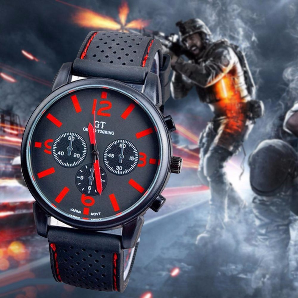 product pilot indexes mens black leather vintage davis l dial watches strap aviator case grey titanium s aviation men waterresist steel watch zoom red chronograph date