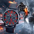 Luxury Red watches men sports fashion racing mens quartz wrist watch Army Racing Force Military Sport Men Officer Watches