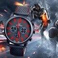 Rojo de lujo relojes hombres deportes de carreras de la moda para hombre de cuarzo reloj de pulsera Ejército Racing Fuerza Militar Deporte Hombres Oficial Relojes