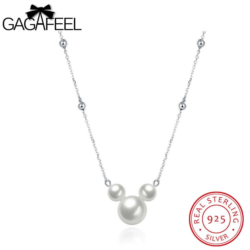 ⑦Gagafeel collar de perlas de imitación encantadora Mickey forma ...