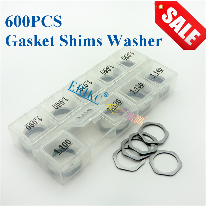 ERIKC 600 pcs Gaskets Liseron fuel injector washers diesel engine injector cri injectors shims B11/12/13/14/16/22/25/26/31/48