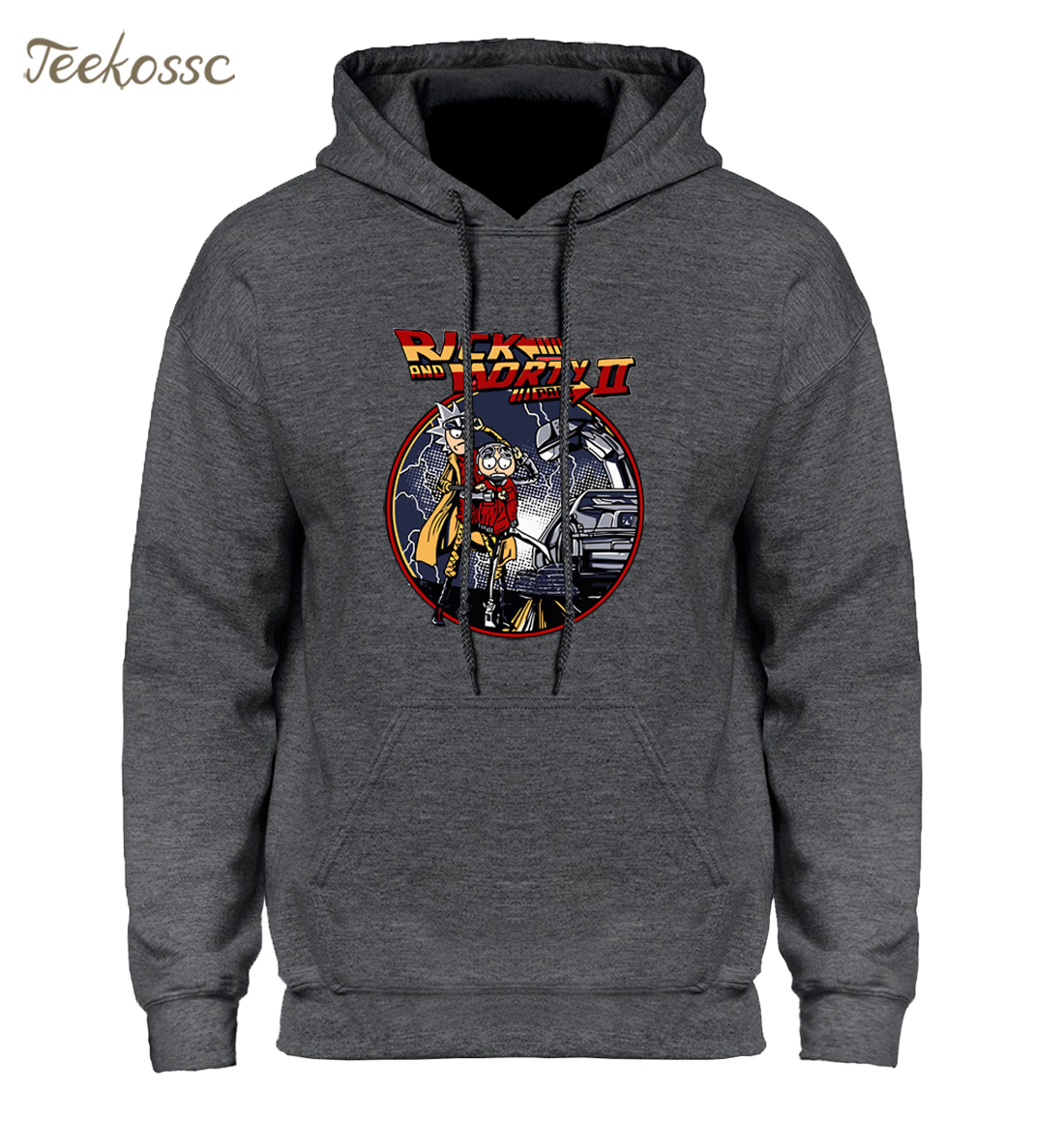 Rick and Morty Hoodie Men Back To The Future Hoodies Mens Anime Hooded Sweatshirt 2018 Winter Autumn Hip Hop Streetwear Homme