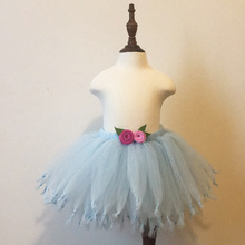 71ba7a765d40 Purtulle Light Blue Fluffy Tulle Tutu Skirt for Girls-Fits Newborn to Young  Girls-