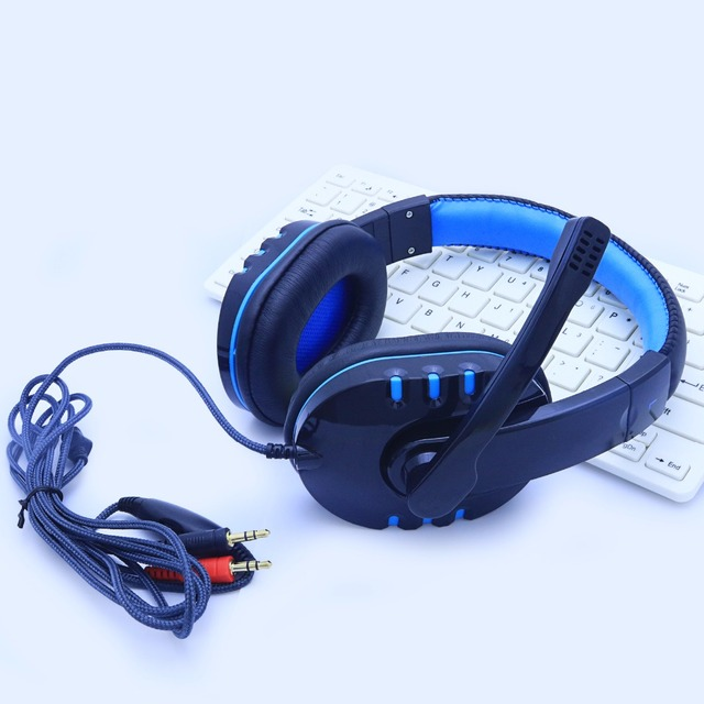 Gaming Headphone Headphones Headset Deep Bass Stereo With Mic Adjustable 3.5mm Wired led For computer Laptop Gamer Earphone