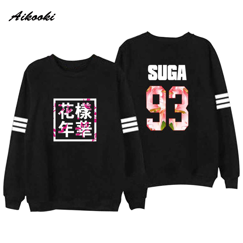 Bangtan Boys Kpop BTS Men Women Unisex Hoodies Sweatshirts Letter Printed In J HOPE 94 SUGA