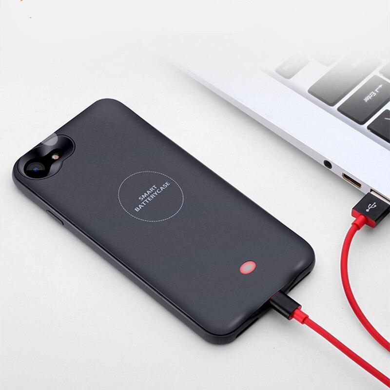 7475455da4a Caso Carregador de bateria Para o iphone 6 6 s Plus 4000 mAh de Backup  Banco Do poder Para o iphone 7 Plus 7 Portátil Powerbank Bateria Externa  caso ...