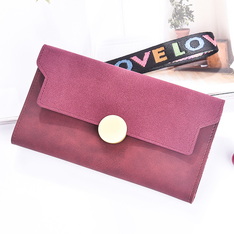 Frosted multi-card bit zipper Around Wallet Fashion Women Wallets Designer Brand Purse Lady Party Wallet Female Card Holder