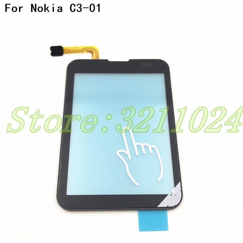 100% Tested Original Touchscreen For Nokia C3-01 C3 01 Sensor Touch Screen Digitizer Front Glass