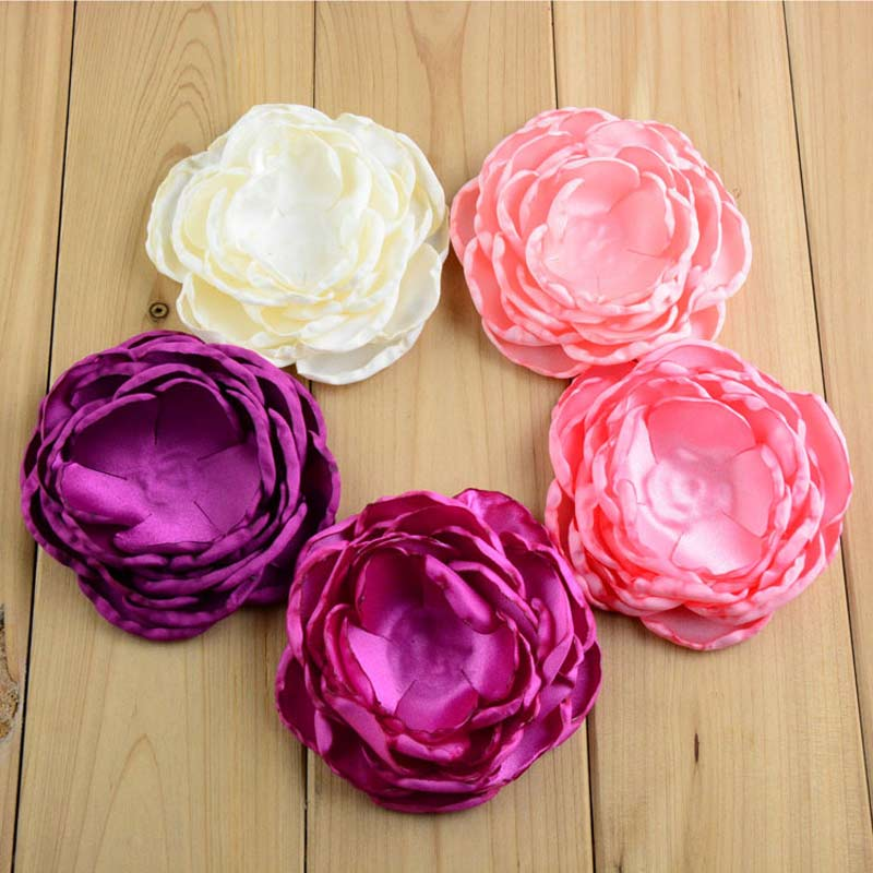 20pcs 10cm layered burned petal flowerdiy crafts fabric flower for 20pcs 10cm layered burned petal flowerdiy crafts fabric flower for hair clipsheadbandssewing wedding party embellishments in hair accessories from mother mightylinksfo