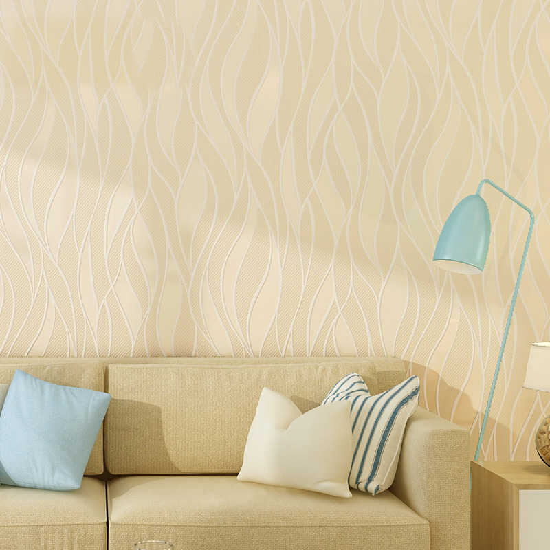 Simple Modern Curve Striped Non-woven Fabric Wallpaper For Walls 3D Bedroom Living Room TV Background Stripes Wall Paper Rolls simple striped lines modern wall papers home decor wallpaper for living room bedroom tv sofa background wallpaper for walls 3 d