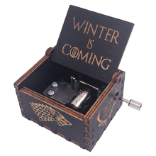 Game of Thrones Music Box 18 Note Hand Crank Musical Carved Wooden Toys for Boys,Play Theme