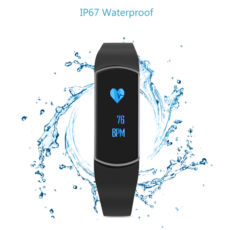 TRASENSE SH09 OLED Smart Watch IP67 Waterproof Heart Rate Bluetooth Sport Tracke