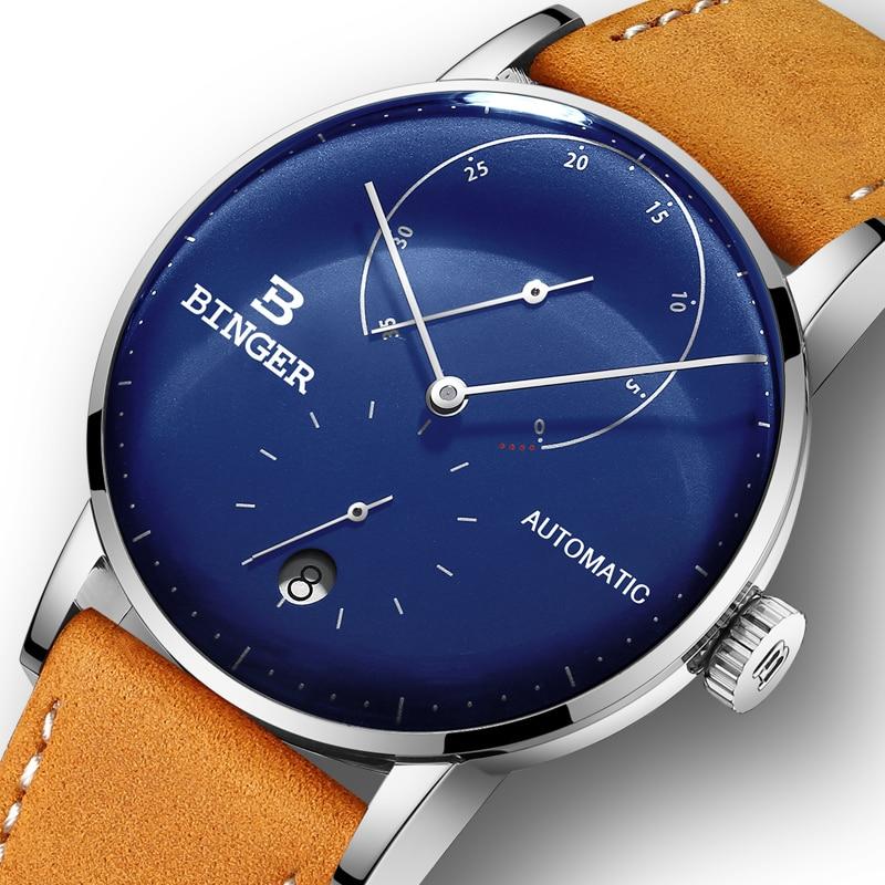 Switzerland BINGER Men Watch Luxury Brand Automatic Mechanical Mens Watches Sapphire Male Japan Movement reloj hombre B-1187-17 đồng hồ binger bg54