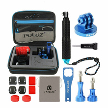 PULUZ 16 in 1 CNC Metal Accessories Combo Kit with EVA Case Stocker for Gopro SJCAM Xiaomi Yi New Arrival