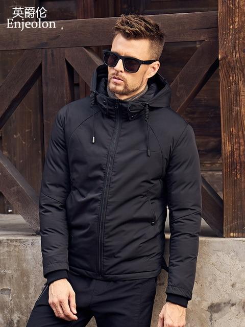 Best Offers Enjeolon Brand winter Cotton Padded Jacket men hoodies jacket coat Men Parka jacket coat Thick Quilted fashion Coat Men MF0288