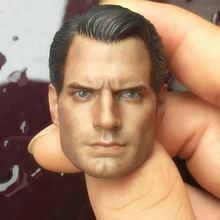 Custom 1/6 Scale Henry Cavill Batman v Superman 2 Head Sculpt For Hot Toys Body