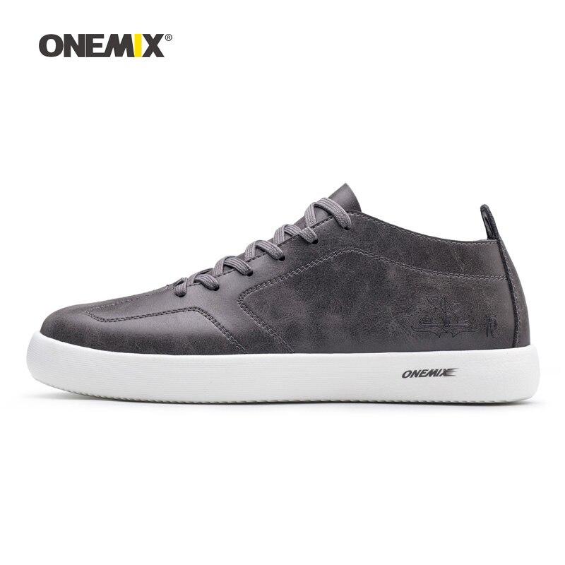 ONEMIX мужская обувь для ходьбы, мужские кроссовки из микрофибры, хорошие дорожные тренды, обувь для скейтбординга, серая теннисная Уличная обувь|walking shoes|man walkshoes for walking | АлиЭкспресс