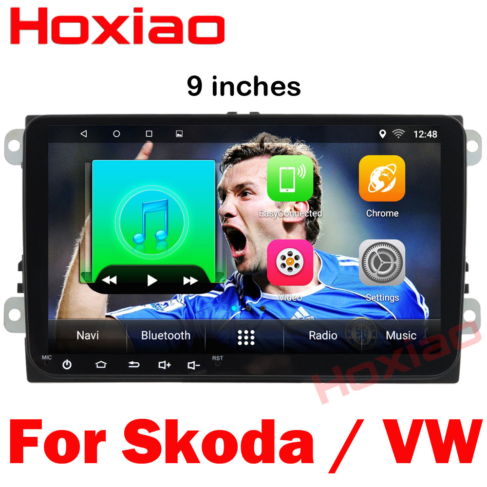 2 din Android Car DVD Player For Skoda Octavia Fabia Rapid Yeti Superb VW Seat With