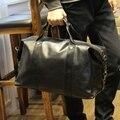 Nuevos hombres multifunción viaje de hombro del totalizador bolsas inglaterra Vintage Leather gran capacidad del bolso del equipaje impermeable