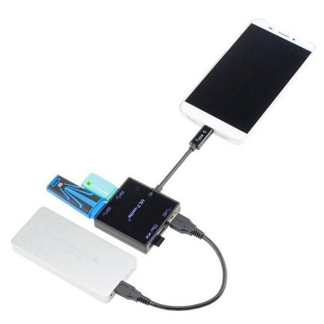 Типа С USB 3.1 КОНЦЕНТРАТОР Card Reader USB 3.0 COMBO Разъем Адаптера Для MacBook Chromebook/Пиксел/Nokia N1/HP