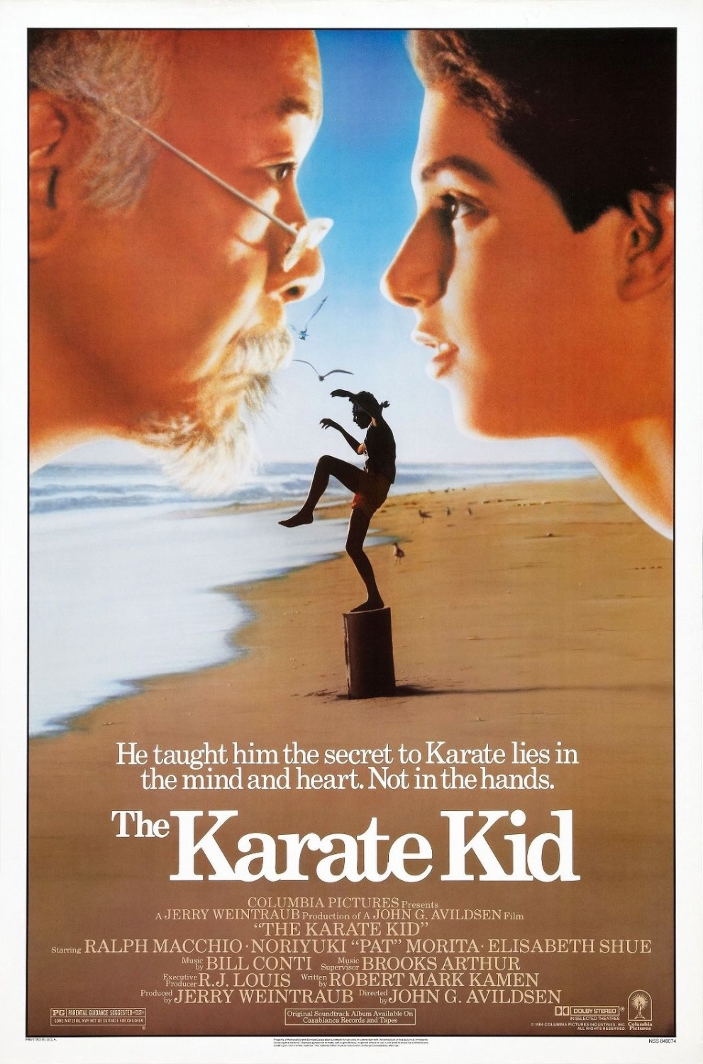 The Karate Kid 1984 Drama/Sport Classic Movie SILK POSTER Decorative painting 24x36inch image