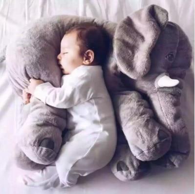 Gigante in Pelle di Elefante Peluche Nessuna Cotone PP Peluche Animale Morbido Elefante Del Bambino Che Dorme Cuscino Giocattoli Per Bambini 33/40 /60 cm spot all'ingrosso